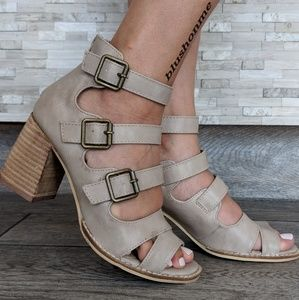 Shoes - Caged Buckle Detailed Booties